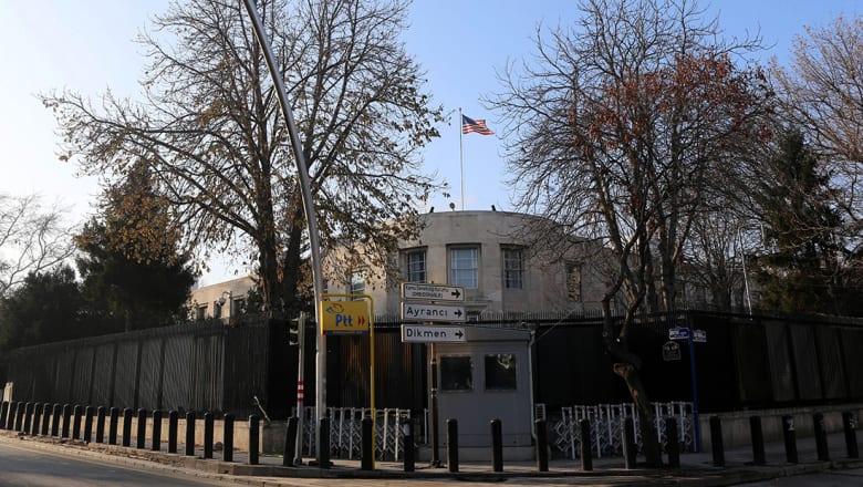 """سفارة أمريكا بتركيا تحذر رعاياها.. وتعلن: أبوابنا مغلقة بسبب """"تهديد أمني"""""""