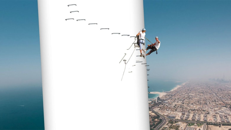 جنباً إلى جنب مع أطول عجلة مراقبة في دبي.. أطول منصة تسلق بالحبال في العالم!