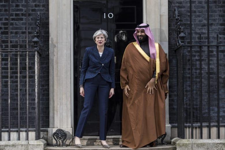 لقاء ماي بولي العهد السعودي: فرص بـ90 مليار دولار.. وحرب اليمن ورائف بدوي