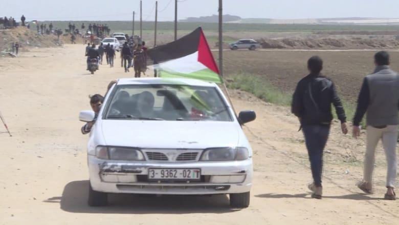 """شاهد.. فلسطينيون يستعدون لـ """"مسيرة العودة الكبرى"""" وإسرائيل تتأهب"""