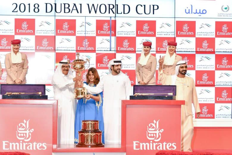 محمد بن راشد بعد فوز جواده بكأس دبي للخيول: ليلة عالمية عاشتها الإمارات