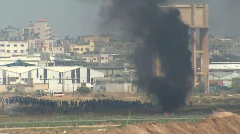 """العنف يشتعل مجددا على حدود غزة في """"جمعة الكاوتشوك"""""""