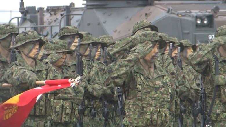شاهد.. اليابان تستعرض عضلاتها وتكشف عن أول وحدة بحرية منذ الحرب العالمية الثانية