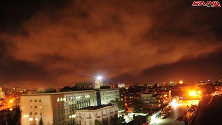 """الجيش السوري: 110 صواريخ أطلقها """"العدوان الثلاثي"""" وحُرف مسار صواريخ استهدفت مواقعا عسكرية"""