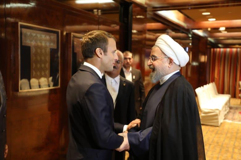 روحاني لماكرون: الاتفاق النووي الإيراني غير قابل للنقاش