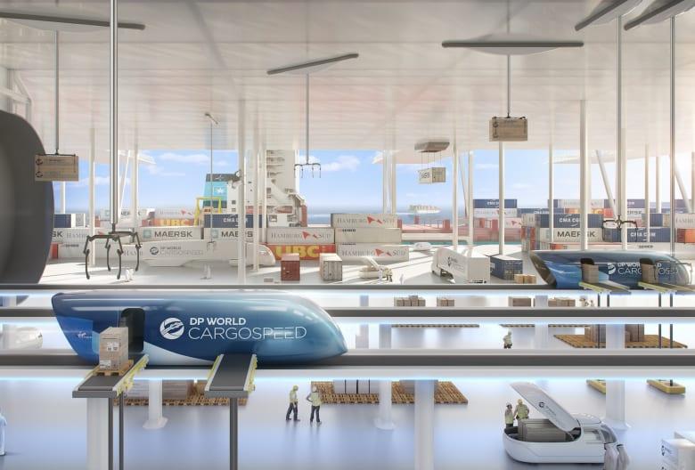 هايبرلوب دبي لن ينقل البشر فقط..بل البضائع أيضاَ
