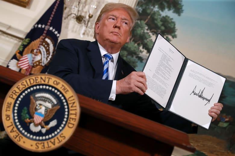 السعودية والإمارات تؤيدان قرار ترامب بالانسحاب من الاتفاق النووي