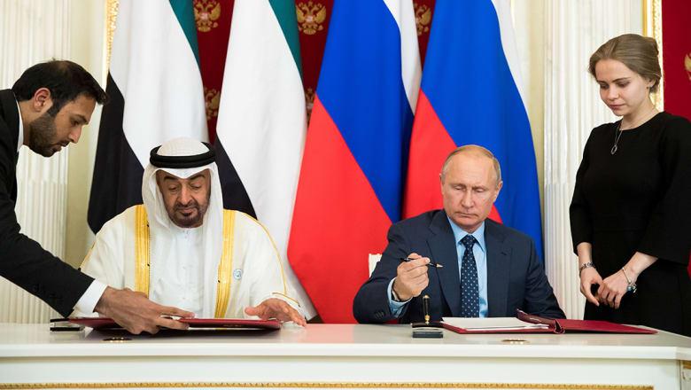 محمد بن زايد وبوتين يوقعان إعلان شراكة استراتيجية بين الإمارات وروسيا