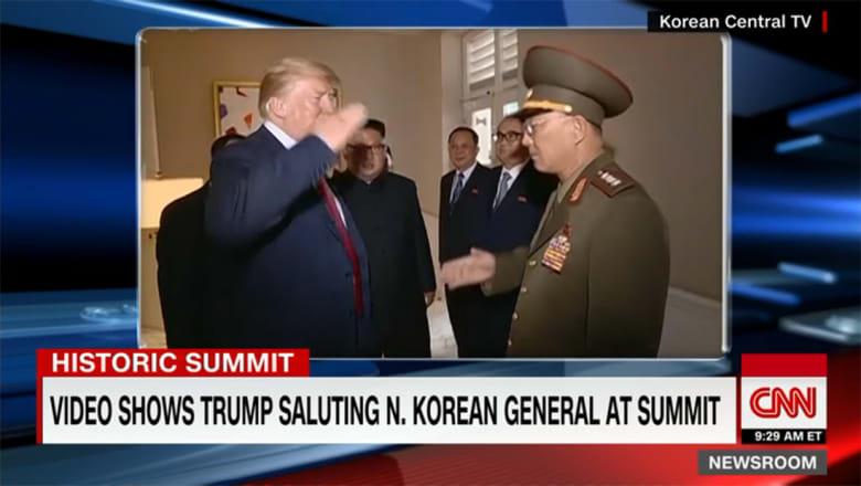 تحية ترامب العسكرية لجنرال كوري شمالي تثير ضجة