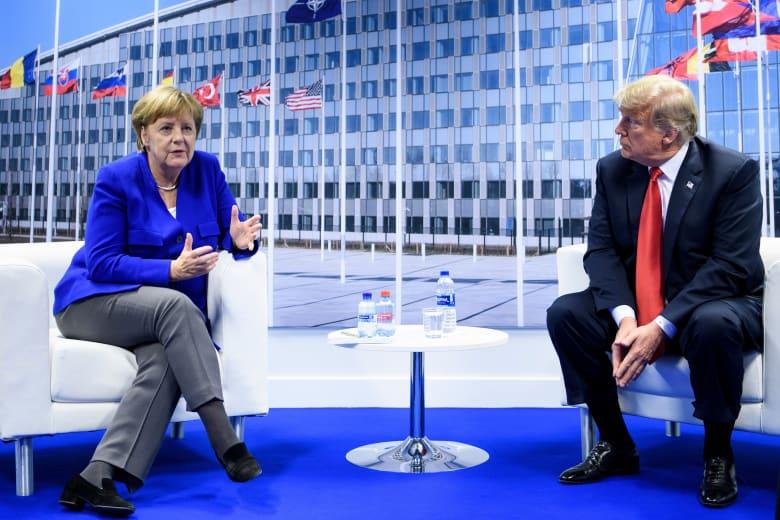 ترامب يهاجم ألمانيا مجددا بعد ساعات من لقائه ميركل