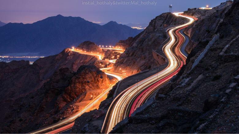 """هل طريق جبل """"كرا"""" هو الأجمل في السعودية؟"""
