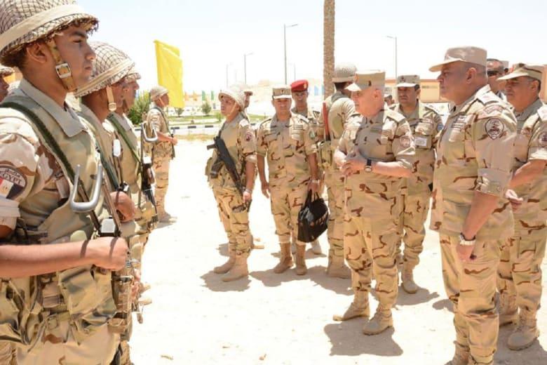 رسالة إشادة من رئيس أركان الجيش المصري بشأن العمليات العسكرية في سيناء
