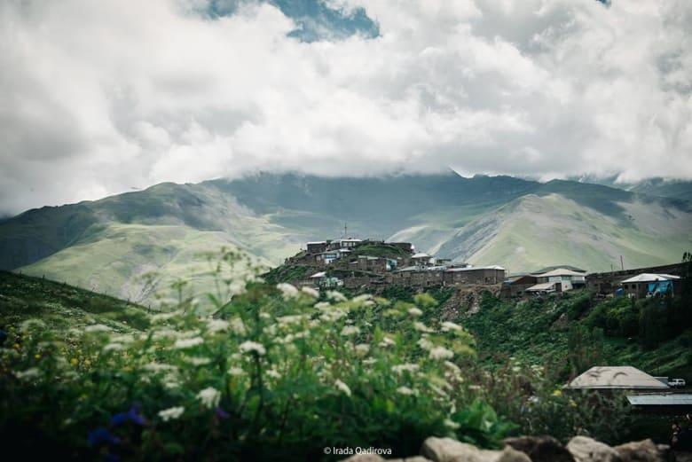قرية خيناليق في محافظة قوبا، شمال أذربيجان.