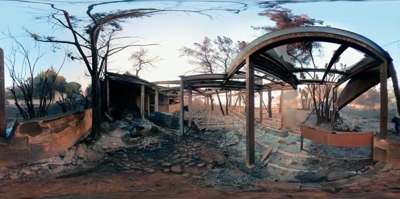 بتقنية 360 درجة.. شاهد آثار الحرائق المدمرة في اليونان