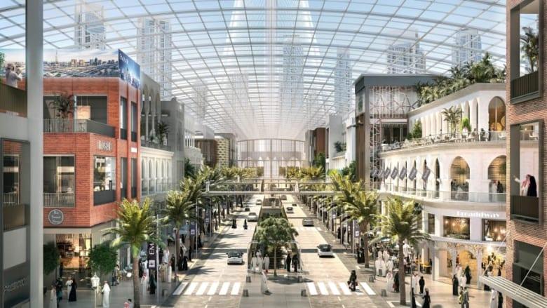 دبي تكشف عن خطط إنشاء مركز تجاري بحجم 100 ملعب كرة قدم
