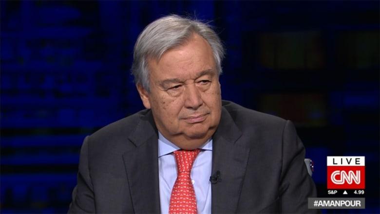 """أمين عام الأمم المتحدة لـCNN: نتفهم المخاوف من إيران ولكن """"الاتفاق النووي"""" ايجابي"""