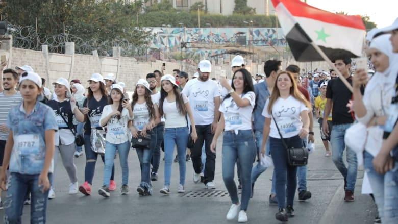 بمناسبة اليوم العالمي للسلام، شهدت عدة مدن سورية يوم ماراثون