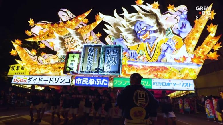 تصاميم عائمة خلال مهرجان نيبوتا في اليابان.. ماذا تعرف عنها؟