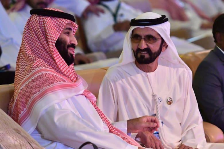 محمد بن راشد لولي العهد السعودي: يا جبل ما يهزك ريح