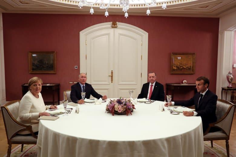 على ماذا اتفق أردوغان وبوتين وماكرون وميركل بقمة إسطنبول حول سوريا؟