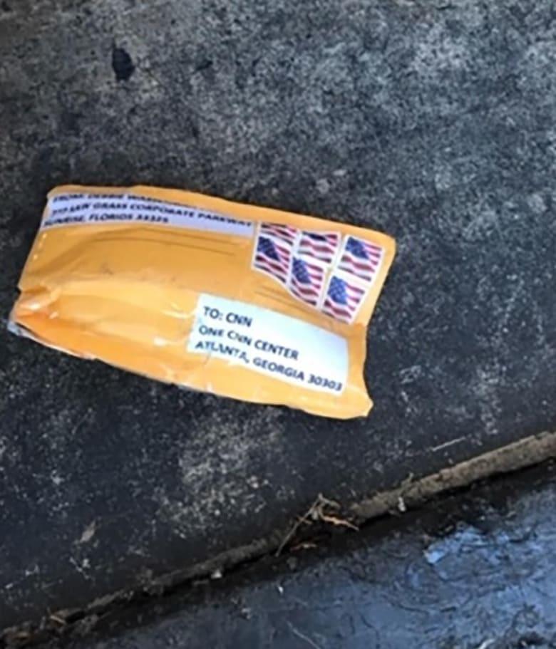 صورة للطرد المشبوه الذي تم إرساله إلى مقر CNN في أتلانتا