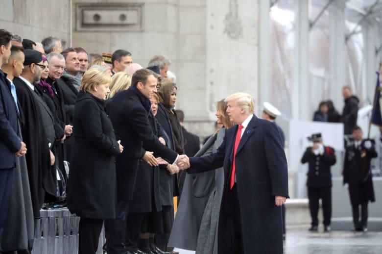 ماذا ناقش ترامب مع بوتين وماكرون وميركل على الغداء؟