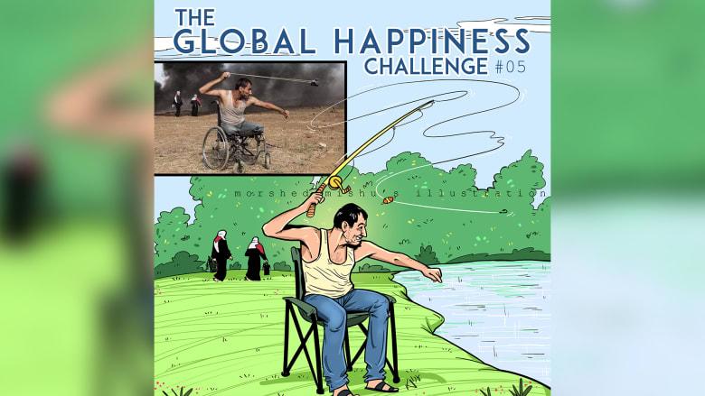 بالصور.. رسام يحول مشاهد الحرب المؤلمة إلى لحظات سعيدة