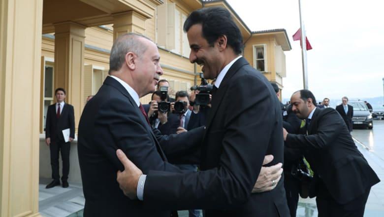 """أردوغان يستقبل تميم بن حمد: بذلنا جهودا كبيرة من أجل إفشال """"حصار"""" قطر"""