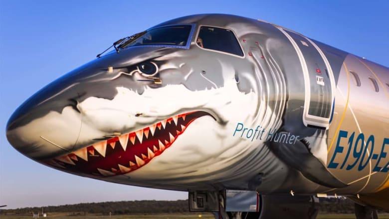 طائرة نفاثة بشكل سمك القرش الأبيض.. فما الذي يميزها؟