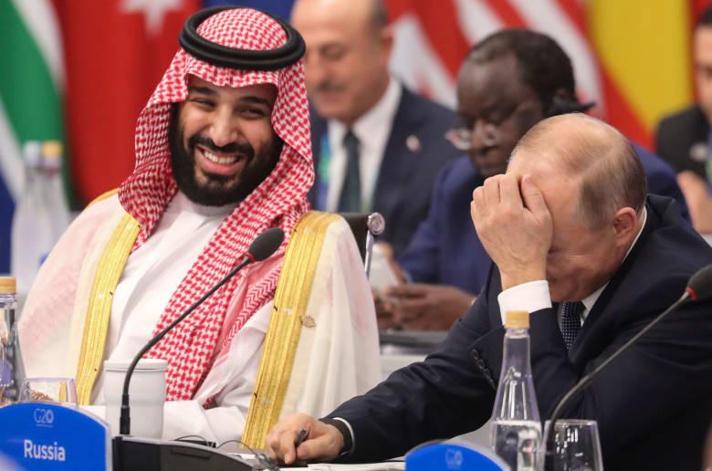 """عمرو أديب بهجوم لاذع على الجزيرة وتغطية استقبال محمد بن سلمان بقمة الـ20: """"هاي فايف"""" مع بوتين"""