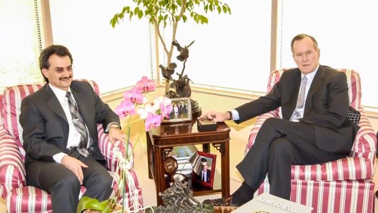 الوليد بن طلال ينشر فيديو معزيا بوفاة بوش الأب: 15 عاما من العلاقات الشخصية.. فليرقد بسلام