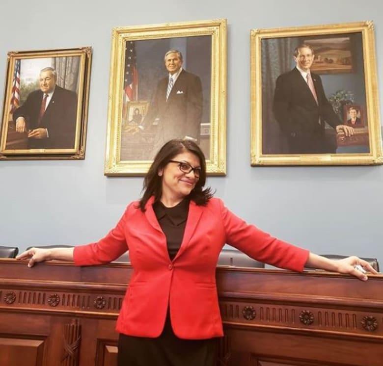 رشيدة طليب تختار ثوباً فلسطينياً عند أداء قسم الكونغرس الشهر المقبل