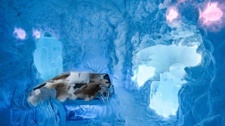 فندق جليدي في السويد يقدم للنزلاء فرصة الاستمتاع بتجربة فريدة من نوعها