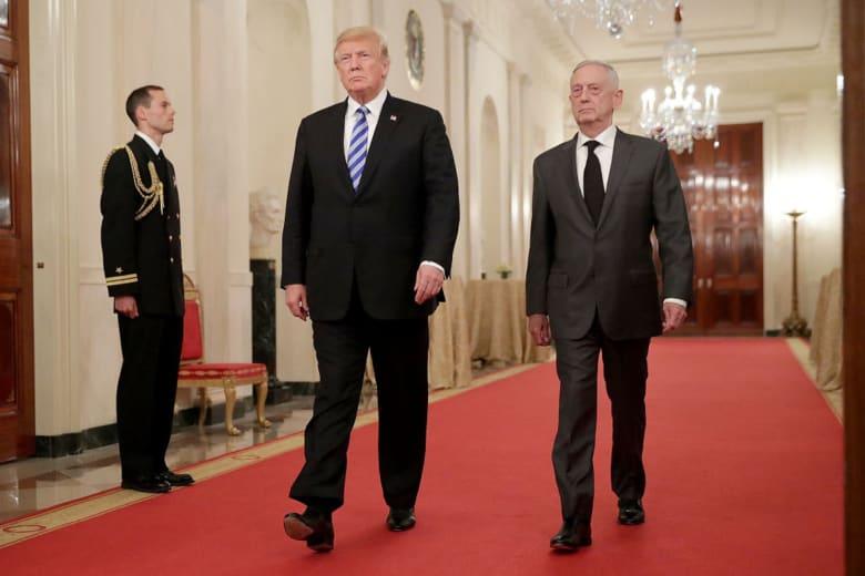مصدر يكشف عن غضب ترامب من خطاب استقالة ماتيس