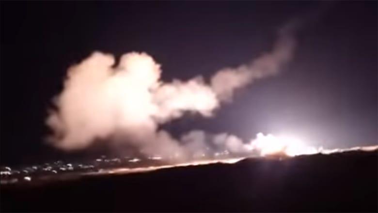 """سانا تنشر مقاطع فيديو تظهر التصدي لـ""""صواريخ إسرائيلية"""" أطلقت من فوق لبنان"""