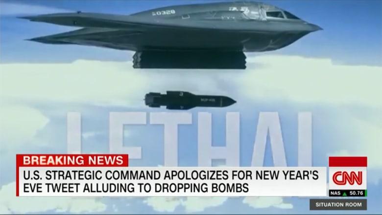 """تغريدة """"غير تقليدية"""" تحذفها القيادة الاستراتيجية الأمريكية بعد نشرها برأس السنة"""