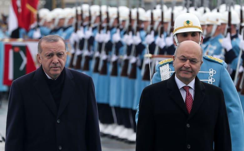 في لقاء أردوغان وصالح.. توافق تركي عراقي على مكافحة الإرهاب