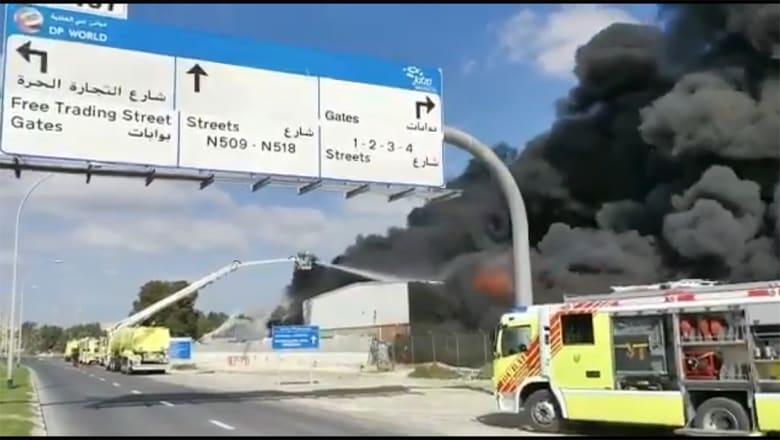 حريق في مصنع بدبي و3 فرق تعمل على اخماده ومنعه من الوصول لمنشآت مجاورة