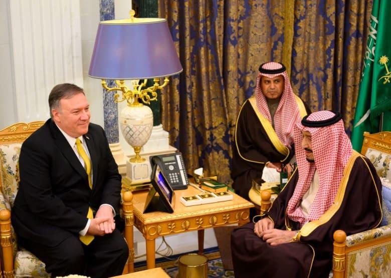 بومبيو يكشف ما قاله للملك سلمان وولي العهد السعودي بشأن خاشقجي