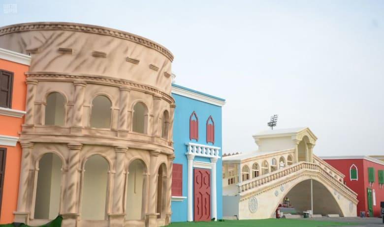 ما مناسبة وجود هذه القرية الإيطالية في السعودية؟