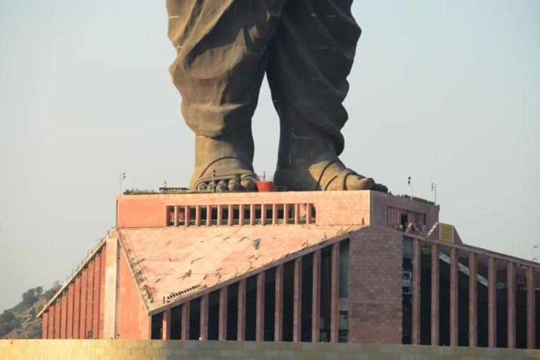 تماسيح تحيط بموقع أطول تمثال بالعالم..ومسؤولون ينقلونها لحماية السياح