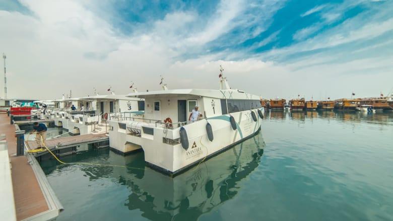 """جزيرة الـ""""بنانا"""" في قطر.. جنة هلالية وسط مياه فيروزية"""