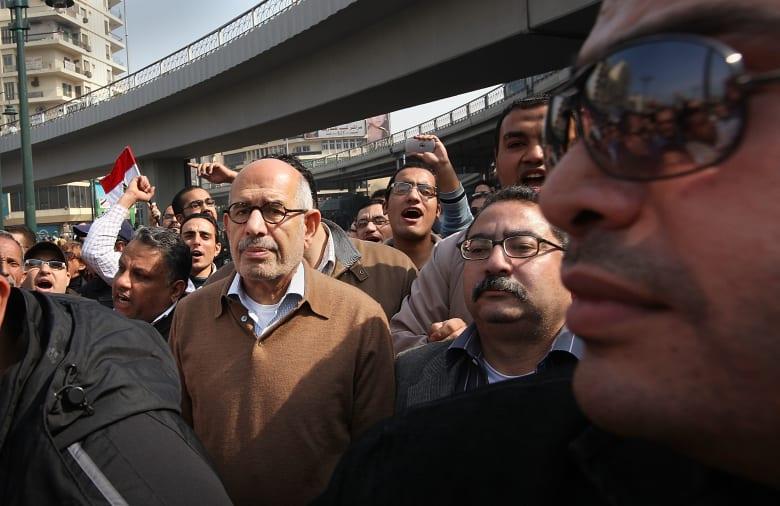 البرادعي يتحدث عن خارطة 2013: القوات المسلحة المصرية أعلنت أنها ستظل بعيدة عن السياسة