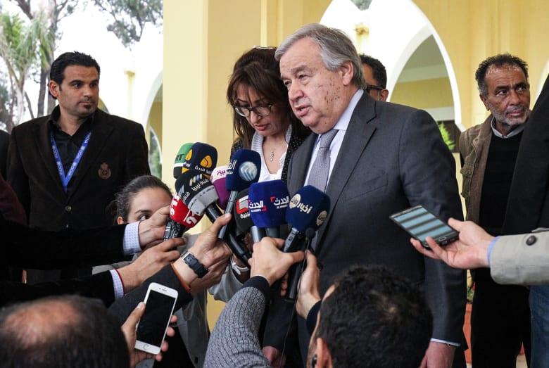 """غوتيريس يغادر ليبيا مع تقدم قوات حفتر نحو طرابلس.. ويحذر من """"مواجهة دموية"""""""