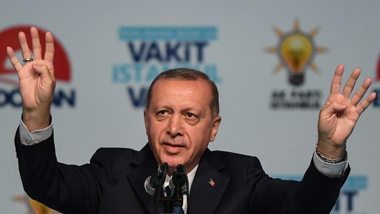 """أردوغان يربط """"حملات تشويه"""" تركيا بموقفها من مصر وسوريا واليمن وفلسطين"""