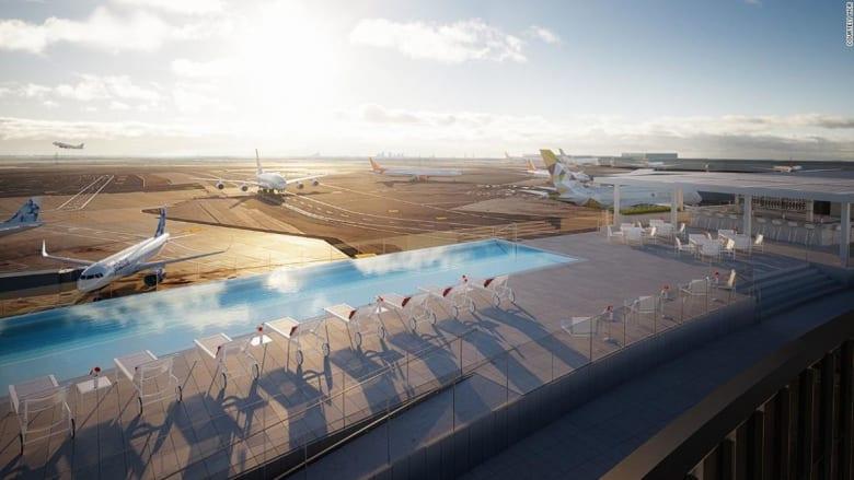 كيف ستحط الطائرات إلى جانب هذا المسبح اللامتناهي في أمريكا؟
