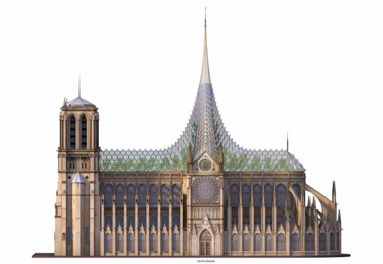 مهندس معماري يكشف عن تصميم صديق للبيئة لكاتدرائية نوتردام