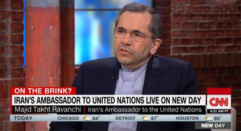 """سفير إيراني يرد لـCNN على """"خطة"""" ارسال 120 ألف جندي أمريكي للشرق الأوسط"""