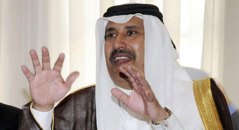 """رئيس وزراء قطر الأسبق يغرد عن اتصال رئيس وزراء البحرين بالشيخ تميم ويقدم """"شهادة للتاريخ"""""""