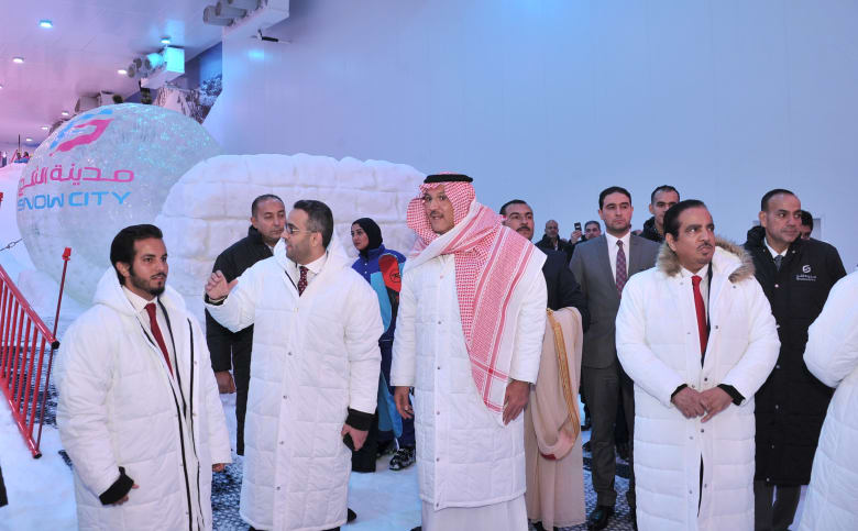 """في خطوة لتعزيز الشراكة الاقتصادية.. السعودية تفتتح """"المدينة الثلجية"""" بمصر"""